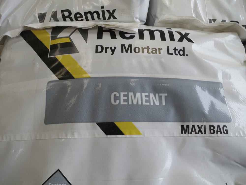 Waterproof cement bags